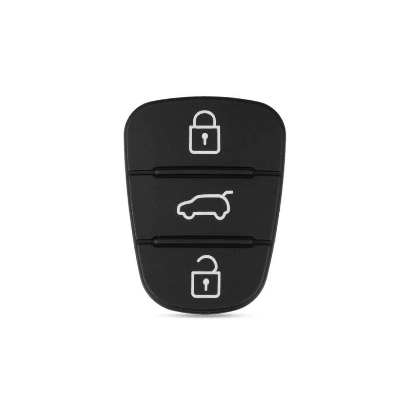 Gommino 3 Keys Replacement Remote Control Black Shell Key Auto Cover Kia