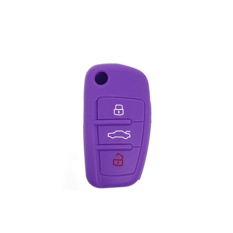SHELL IN SILICONE AUDI 3 PURPLE BUTTONS