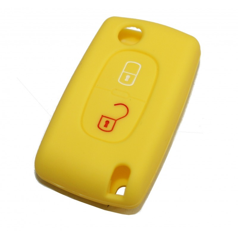2 PEUGEOT YELLOW BUTTONS