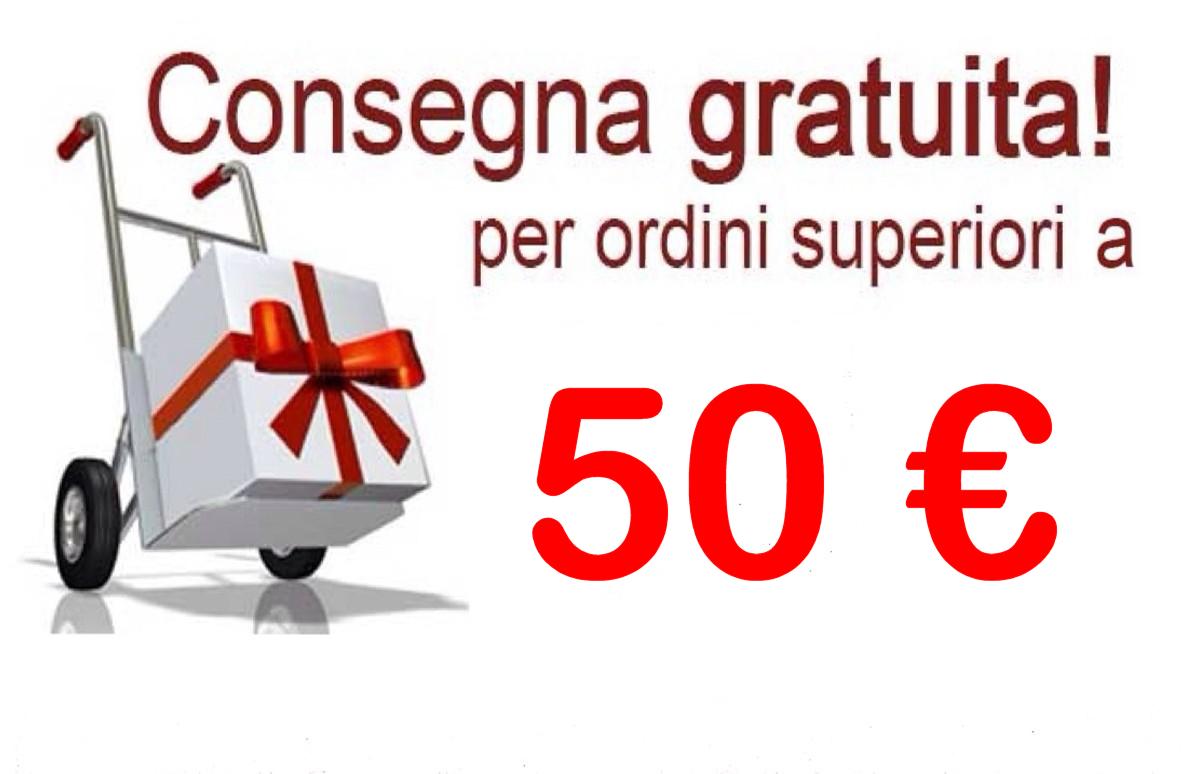 Consegna gratuita per ordini superiori a 50€